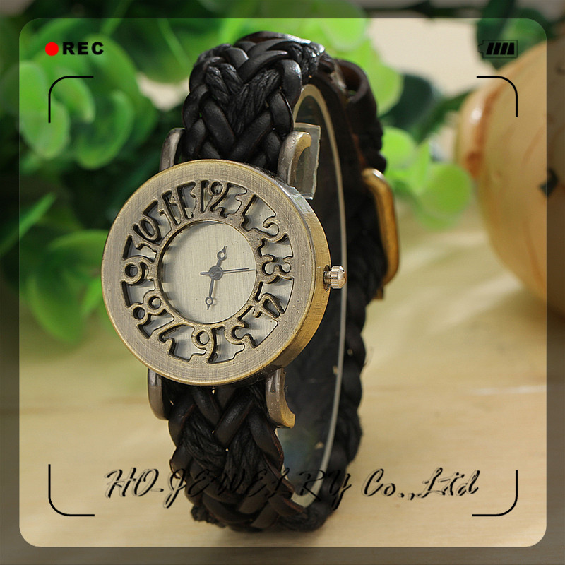 Br Watches Leather Br Skeleton Dressed Leather Manual Engraving Watch Skeleton Watch For Men Vintage Fashion Man Wristwatch(China (Mainland))