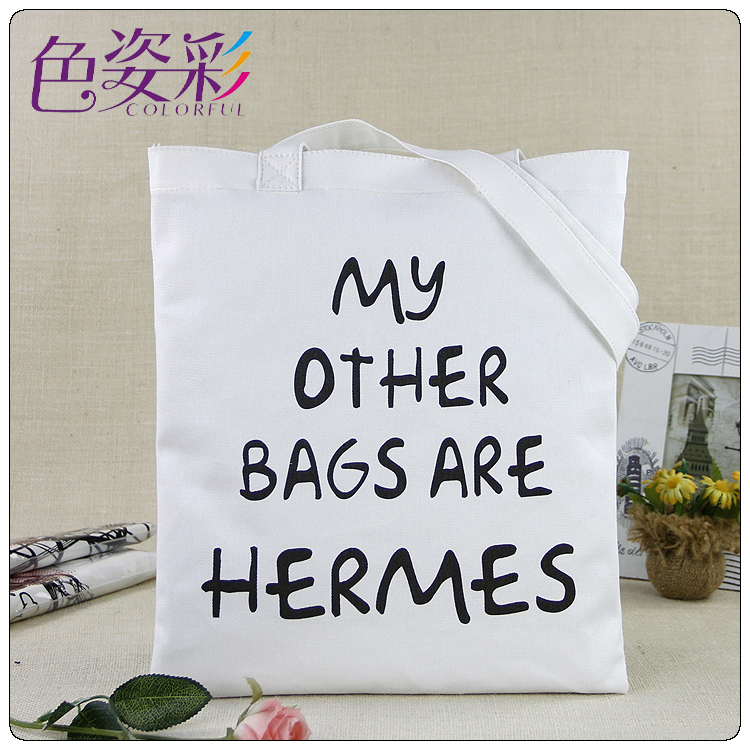 2015 Free Shipping Shopping Bags Women Handbag Reusable canvas Grocery Tote Bag Thicken Canvas Foldable Creative Personality(China (Mainland))