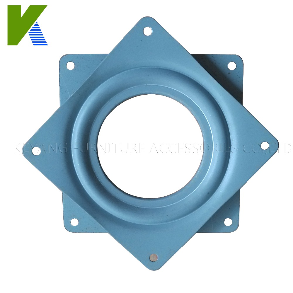 360 Degree Turnable Square Metal Lazy Susan Swivel Plate KYF011(China (Mainland))
