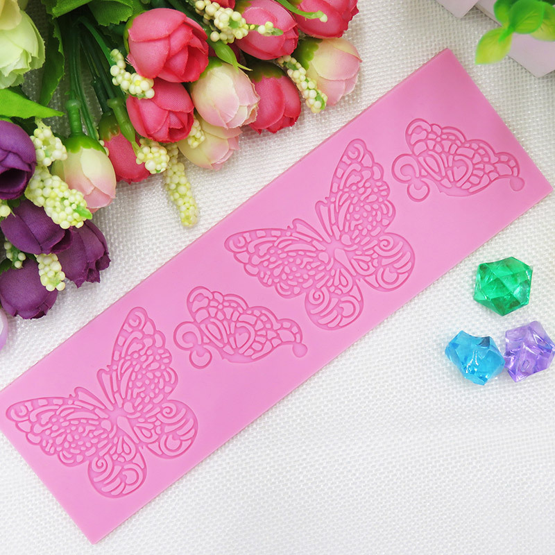 Sweet Lace Cake Decorating : Sweet Butterflies Lace Mat, Silicone Cake Lace Molds, Cake ...
