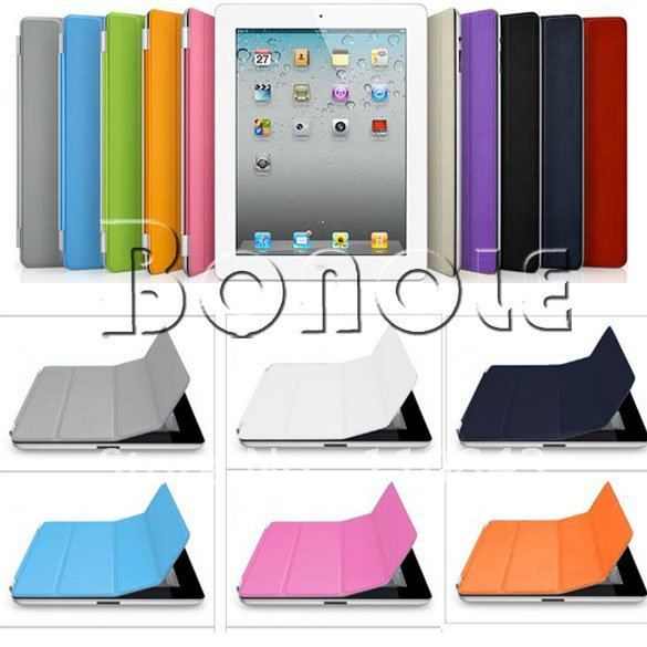 Hot!! Magnetic Smart Cover PU Leather Case/ Magic Stand for Apple for iPad 3 Wake Up Sleep  Dropshipping 3767
