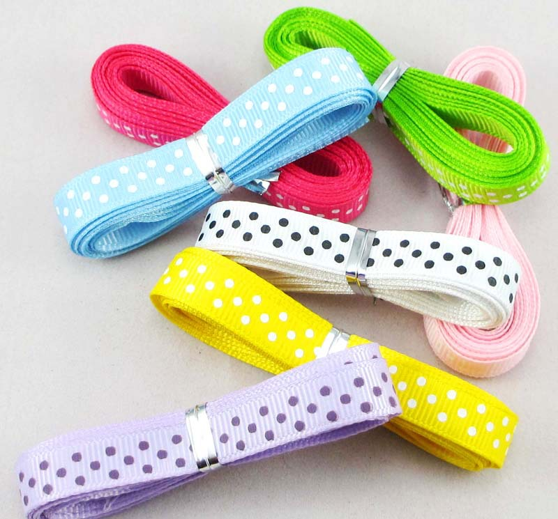 3 8 14yards lot 2 yards color grosgrain ribbon DIY Decorative arts and crafts 040054023