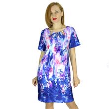 BFDADI 2016 новый летний стиль женщины одеваются всплеск цветочный принт о-шея короткий рукав женские платья 5XL бесплатная доставка 33420(China (Mainland))