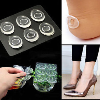 6 Pcs/Set Women Ladies Silicone Gel Shoe Insole Inserts Pad Cushion Foot Care Heel Grips Liner High-heeled Shoes Helper