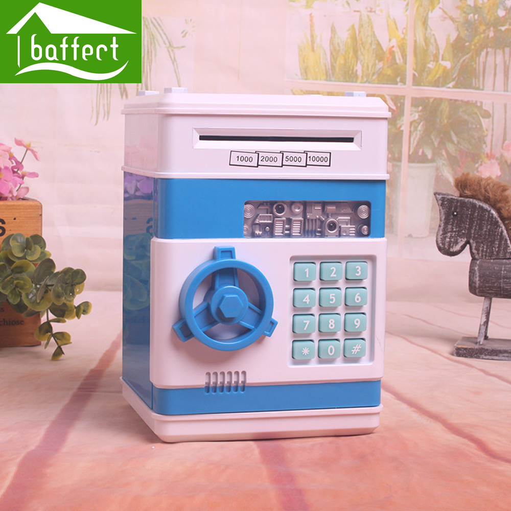 Piggy Bank Mini Atm Money Box Safety Electronic Password Chewing Coins Cash Deposit Machine for Children as Gift HCQ0084(China (Mainland))