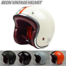 2014 BEON new men women Personalized motorcycle helmet 3/4 open face vintage Jet retro scooter racing helmets ECE - CYCLES CLUB store