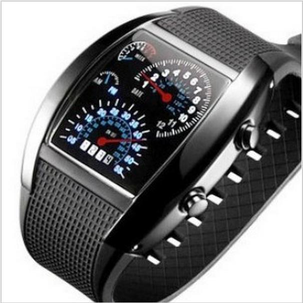 Digital LED Backlight Military Wrist Watch Wristwatch Sports Meter Dial Watches For Men Black BS88(China (Mainland))
