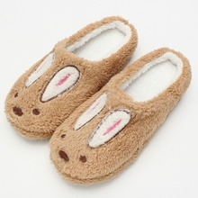 Retail Cute Style Rabbit Women Men Winter Slippers Animal Pattern Home Slippers For Lovers Indoor Shoes Slipper Size 36-43(China (Mainland))