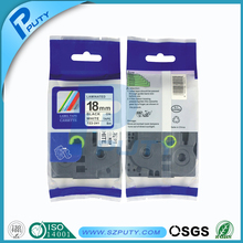 tz241 tz2-241 tze241 black on white 18mm  compatible tz tape for p touch label tape maker