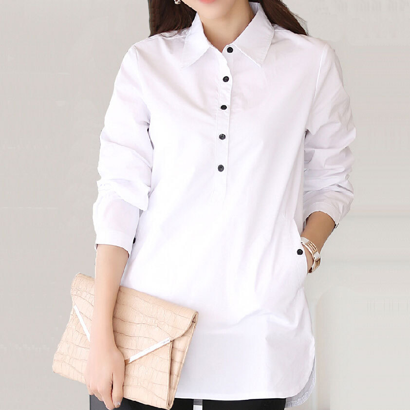 Oversize long shirts dress women brand design 2016 for Women s button down dress shirts