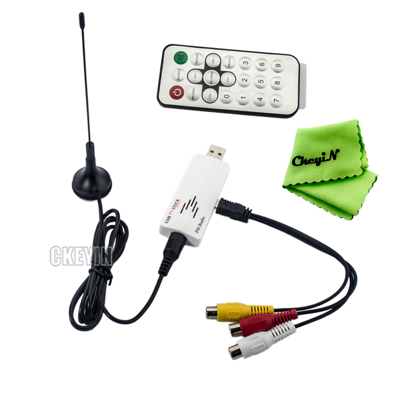 Global Analog TV Tuner Dongle PAL/NTSC/SECAM Multi-Language with Remote Controller and Antenna for DVD VCD DVR VCR UATS01 LN2326(China (Mainland))