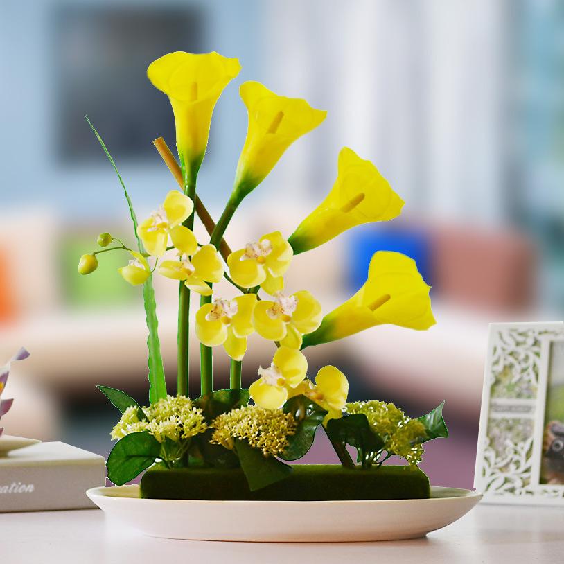 New high-end simulation silk flower High simulation flowers bonsai ceramic bonsai TC551 fresh four-color optional<br><br>Aliexpress