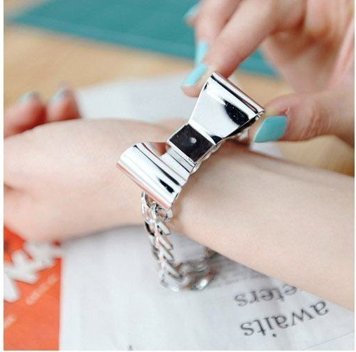 Free shipping ++ Fashion jewelry Bracelet ,alloy bow style Bracelet/bangle golden and silver