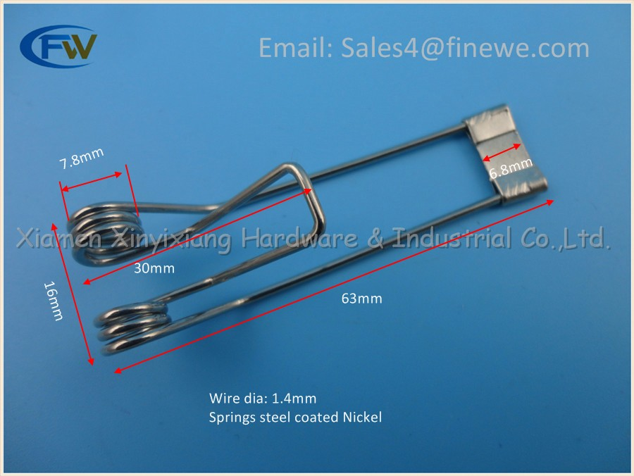 Recessed Lighting Torsion Spring Bracket : Manufacturer fixed spring clip for led ceiling lamp