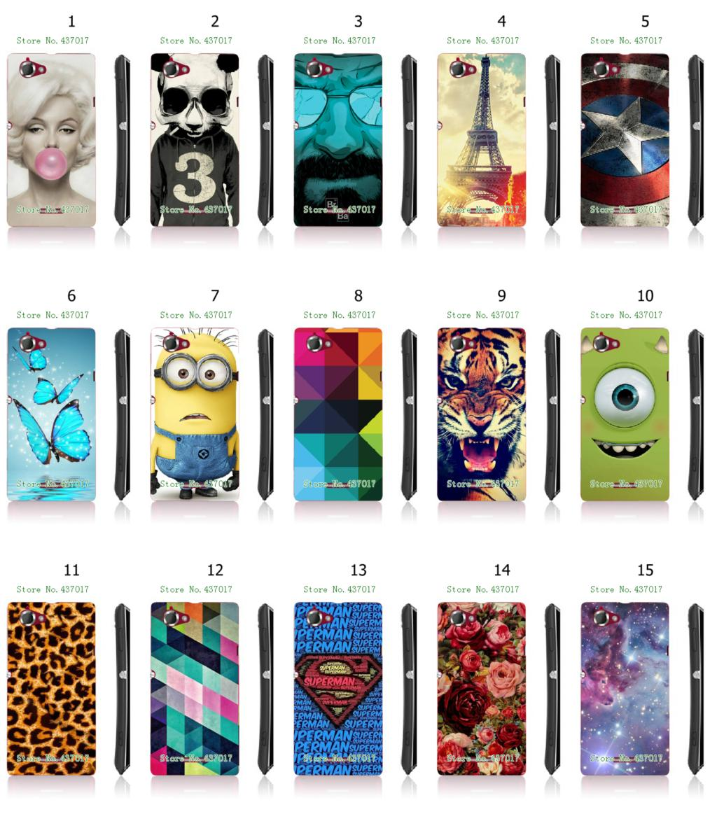 2015 hot despicable rose flower eiffel tower white hard back cover cases sony s36h ( xperia L ) + - allmobilecase store
