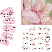 water stickers for nails mix color DIY 3d nail art water decals stickers for nail 10 styles mix decoration nails art(China (Mainland))