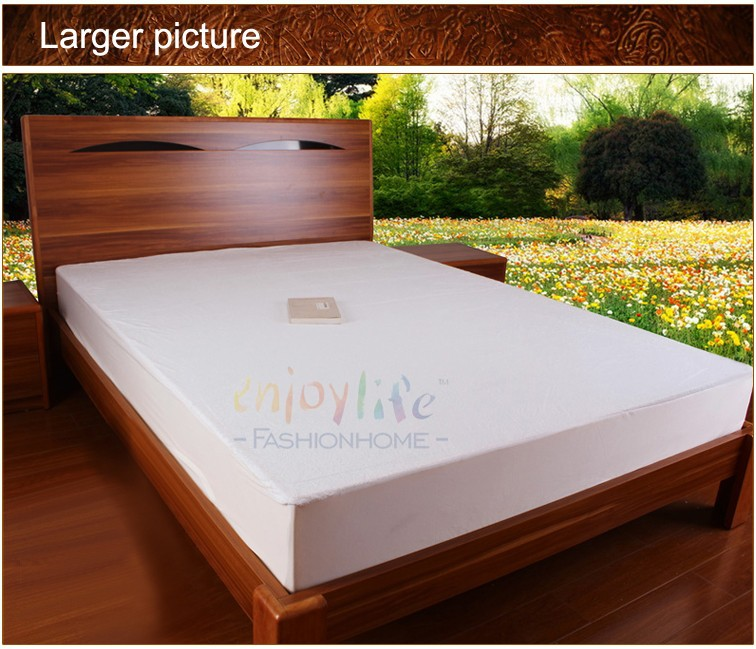 Stock Brazil Size Queen 153*203+30cm Waterproof Mattress Protector/Cover For Baby Mattress(China (Mainland))