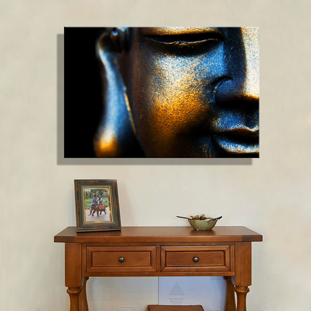 Copper Wall Art Home Decor ~ Oil painting canvas copper buddha wall art decoration