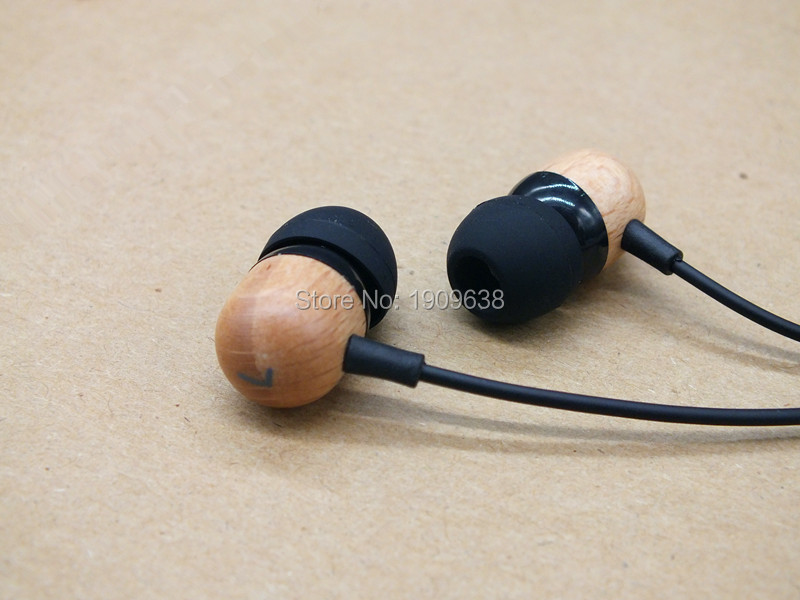 DIY Pure solid wood cavity In Ear Earphone Earbuds Heavy Bass HIFI Earplugs Headset Free Shipping