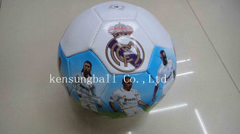 Wholesale Free shipping real madrid Soccer Balls Size 5,Machine Sewing promotion soccer ball,real madrid football souvenirs gift