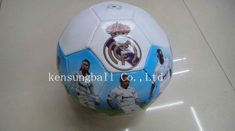 Wholesale Free shipping real madrid Soccer Balls Size 5,Machine Sewing promotion soccer ball,real madrid football souvenirs gift(China (Mainland))