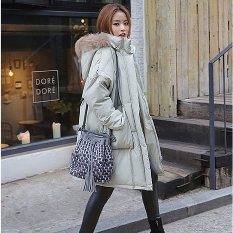 Hot 2015 New Winter Coat Women Plus Size Loose Thicken Warm Jacket Padded Fur Collar Parka Outwear Coats Manteau Femme