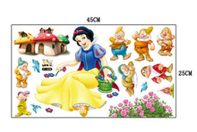 Snow White And Seven Dwarfs Wall Sticker Home Decor Cartoon Wall Decal DIY  For Kids Room Decal Baby Vinyl Mural Nursery Xy3006 Part 75