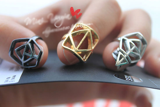 Geometry Shape Nail Rings , Punk Cool Variety Finger Nails Accessories Women - Lincy Fashion store