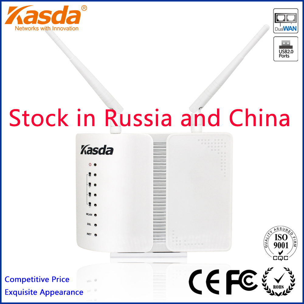Kasda KW5813 Wireless N 300Mbps ADSL 2+ Modem WIFI Router Dual WAN PITV USB Printer Server MIMO Antennas Free Shipping(China (Mainland))