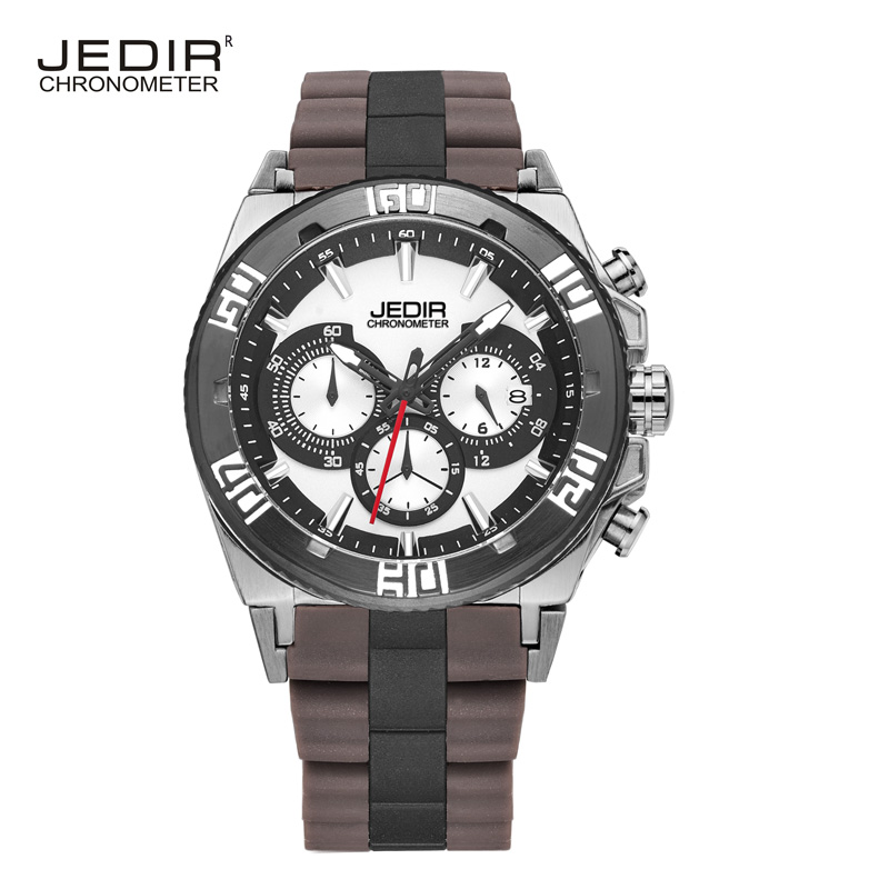 JEDIR 2016 brand luxury automatic men watch sports Multifunctional outdoor Mountaineer Silicone strap waterproof watch for men(China (Mainland))