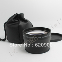100% GUARANTEE  72mm 2.2x Telephoto Lens for Canon 30D 40D 50D 60D 550D 7D CAMERA DSLR new in package(China (Mainland))