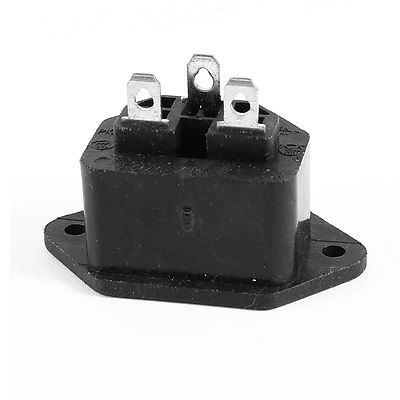 Plastic Shell IEC320 C13 Female Power Socket Adapter Convertor AC 250V 10A(China (Mainland))