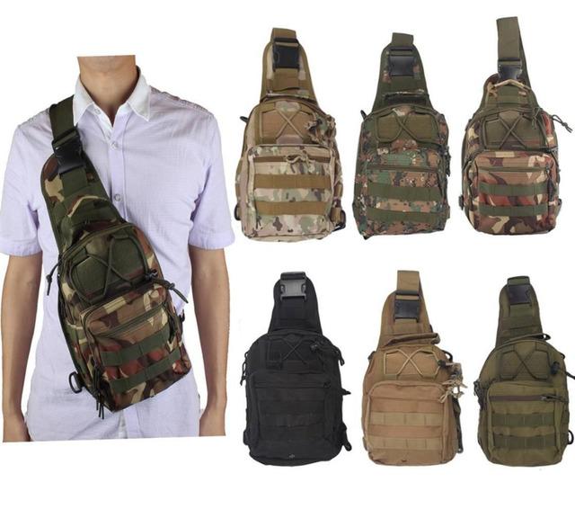 Молл тактические слинг груди мешок пакет посланник сумка рюкзак