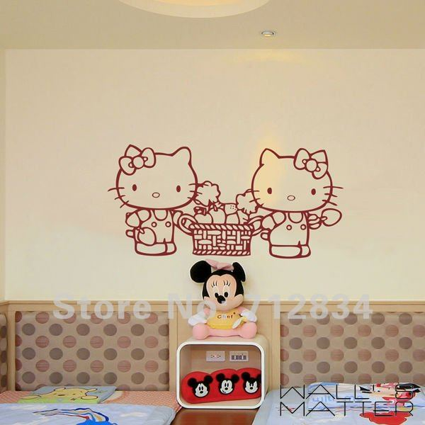 B Z D Free Shipping Wall 39 S Matter Romantic Home Decor Hello Kitty Giant Wall Stickers Wall