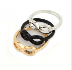 R019 Latest Fashion Explosion Models Wild Infinity Symbol 8 Words Ring Trends Jewelry Factory Direct(China (Mainland))