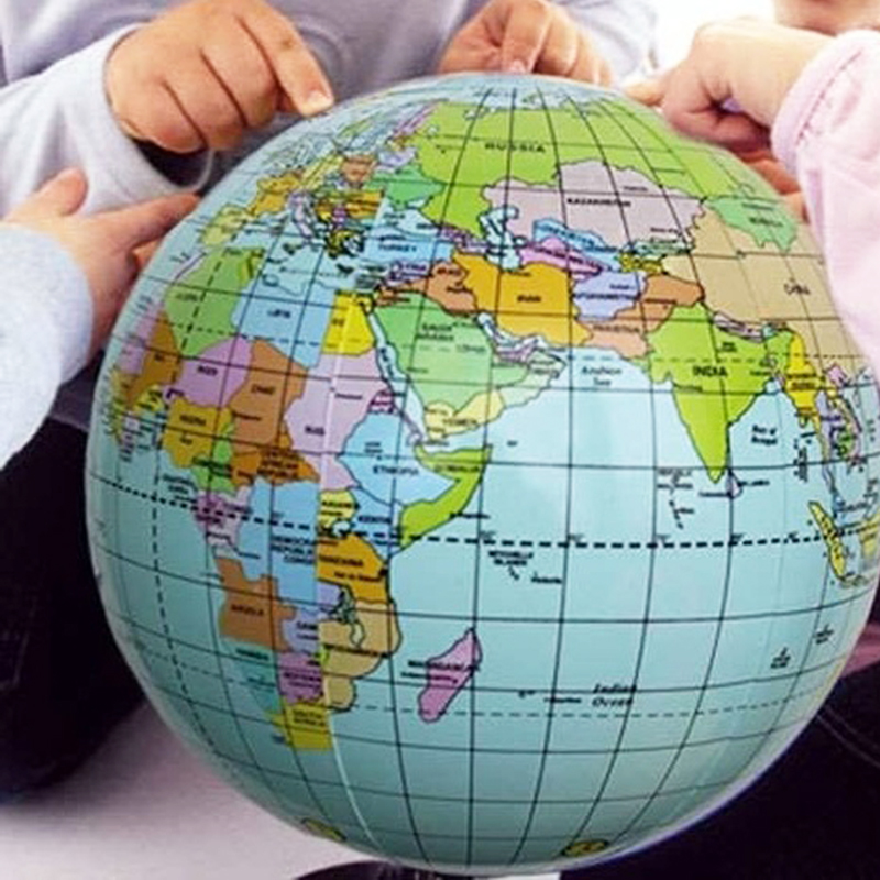 Hot New Aerated Inflatable World Globe Earth Tellurion Home Decorative Ornament Globe Map Tellurion Home Accessories MS426(China (Mainland))