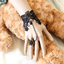 Wholesale vintage lace bracelets & bangles wrist jewelry handmade women accessories Gothic jewelry bracelets for women WS-125(China (Mainland))
