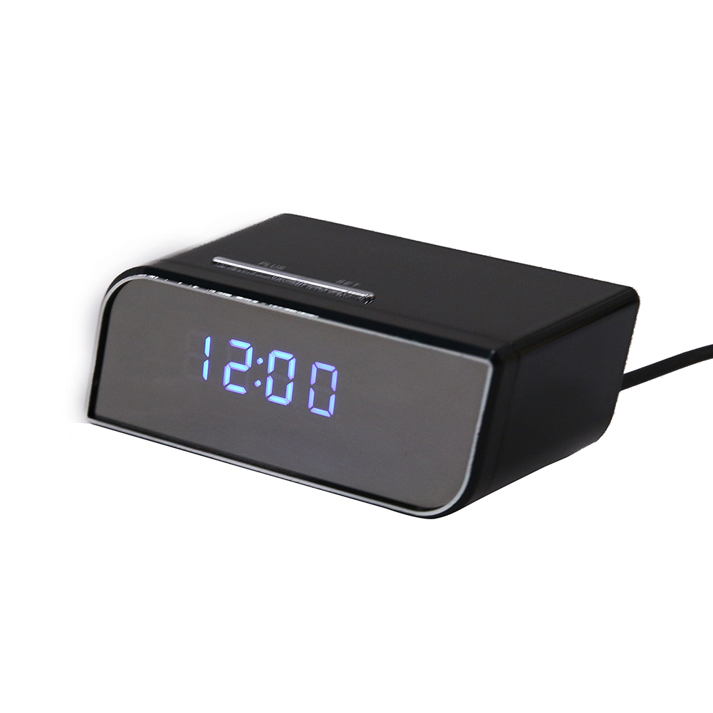 Black Digital Clock Mirror Electronic Alarm Clocks Camera 2017 LED Night Wireless Version Remote Control Infrared Alarm Clock