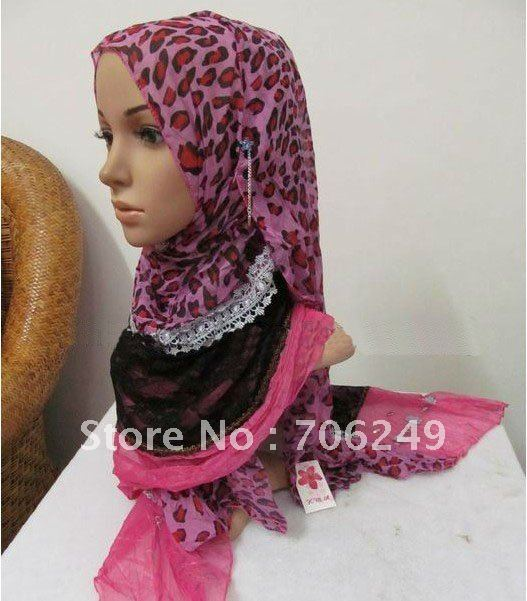 ,patchwork shawl,animal printed scarf,lace scarf,muslim hijab,2012 new design,55*190cm,fashion ladies shawl - ELLEN FASHION ACCESSORIES store