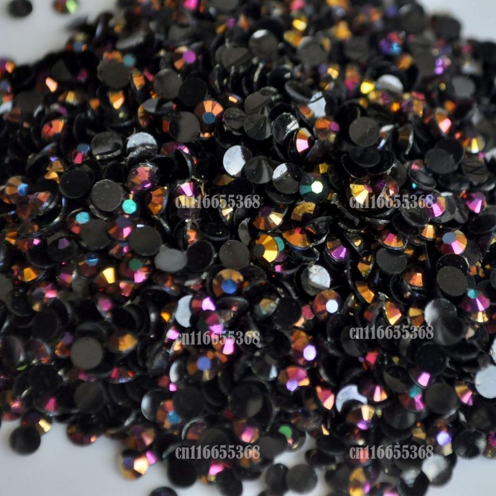 Jelly Black LASER Gold Rose AB 3mm crystal facet resin Flat Back Rhinestones 1000pcs Nail art Candy beads #15(China (Mainland))