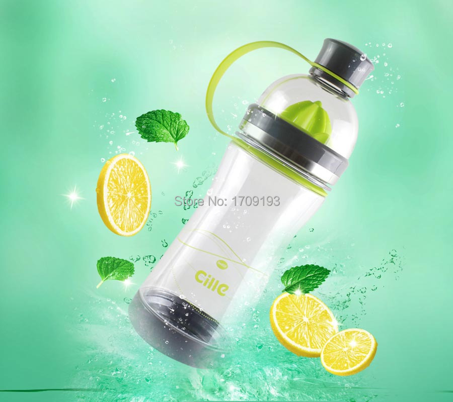 Camping Mountaineering bottle Multi Kettle space cup water bottles Travel Portable Fruit Infuser Lemon Juice Bottle 520ml(China (Mainland))