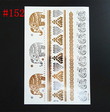 Fashion bod art glitter waterproof temporary tattoo flash party gold tattoo sticker tatuagem temporaria women leg