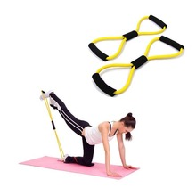New Stlye Resistance Training Bands Tube Workout Exercise For Yoga 8 Type Fashion Body Building Fitness Equipment Tool