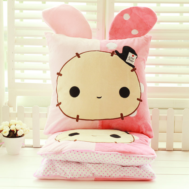 Cute Bunny Plush hand warmers pillow queen quilt dual air conditioning blanket office cushion birthday gift bunny plush<br><br>Aliexpress