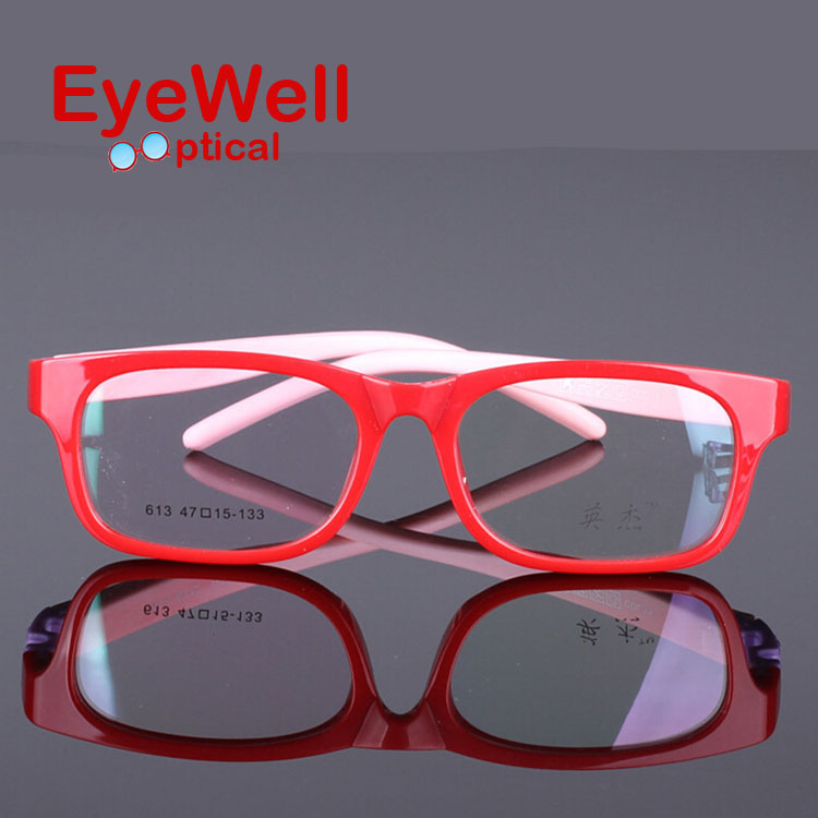 2016 New Fashion Kids TR90 Rubber Eyeglasses Frame High ...