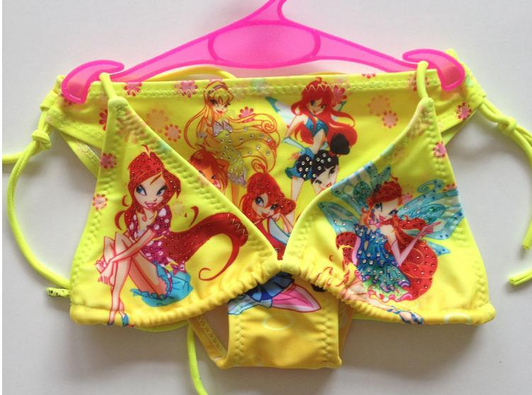 bikini menina kids girls swimwear  bikini mayokini  two pieces bathing suit kids string bikini Butterfly+ waterproof earmuffs(China (Mainland))
