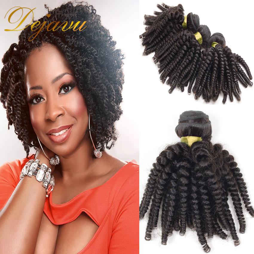 Virgin Mongolian Kinky Curly Weave Hair Dejavu Hair Weave