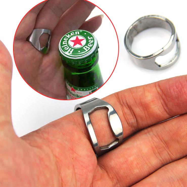 Creative Stainless Steel Finger Ring Ring-Shape Beer Bottle Opener Bar Tool - Zeal Wave store