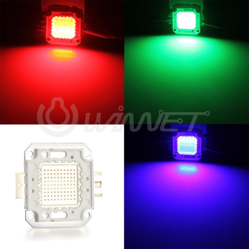 100W High Power RGB LED Light Bulb Lamp Bead Chip Red Green Blue(China (Mainland))