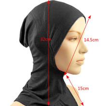 Under Scarf Cap Sweat Asorption Bonnet Ninja Hijab Islamic Neck Cover Muslim H25
